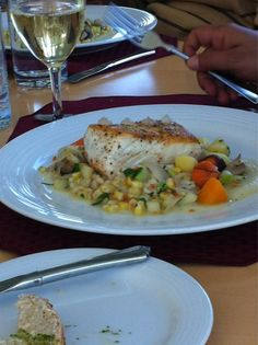 Such a treat! Alvin Dingwell's North Side #Halibut looks delicious - Inn At Bay Fortune, #PEI