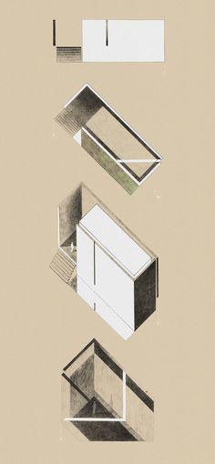 Cconcept for a praise house, by Maitham Almubarak. 2012, Graphite.