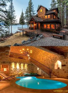 Beautiful Picture Of A Beautiful House – - Traumhaus Future House, My House, Villa, Log Cabin Homes, Log Cabins, Cabins And Cottages, Building A Shed, Cabins In The Woods, Beautiful Homes