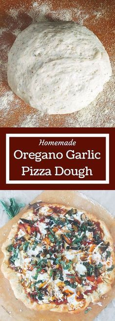 Garlic Oregano homemade pizza dough is so easy! Just a few ingredients and minimal kneeding time to get an airy and flavorful pizza crust that you can use with any sauce and topping. You will never want a store bought crust again! Pizza Flavors, Pizza Recipes, Cooking Recipes, Easy Recipes, Tasty Vegetarian, Fresh Tortillas, Do It Yourself Food, Tortilla Pizza, Cookies Et Biscuits