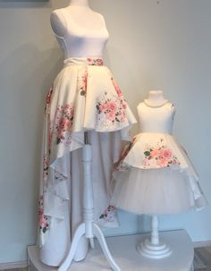 Making mommy & me dreams come true ☺️ Just released this gorgeous Rosalina Dress (for baby) and mommy skirt on our website! Mother Daughter Fashion, Mother Daughter Matching Outfits, Mommy And Me Outfits, Little Girl Outfits, Kids Outfits, Baby Girl Fashion, Kids Fashion, Girls Dresses, Flower Girl Dresses