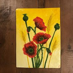 Plaster-cast tiles by Mariya Butakova. For sale and more details please get in touch Plaster Of Paris, Plaster Cast, Poppies, Tiles, It Cast, Touch, Artwork, Painting, Room Tiles