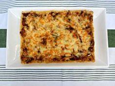 Pizza hojaldrada de verduras y pollo