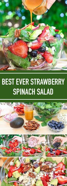 ★★★★★ 12 reviews: Best Ever Strawberry Spinach Salad | These Best Ever Strawberry Spinach Salad will rock your world! This simple recipe is a celebration of summers bounty in the most spectacular salad you will ever eat. #salad #strawberry #healthy | foodielicious.site