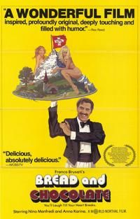 A Chaplinesque Italian movie from the 70s. Nino Manfredi is an Italian prole who tries his luck in Switzerland. But he is too coarse and crude for the soignee Swiss. Anna Karina is a Greek refugee with whom he finds romance.