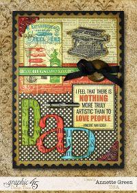 Annette's Creative Journey: A Father's Day Card Tutorial with Graphic 45's Typography