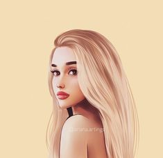 image discovered by. Discover (and save!) Your own pictures and videos on We Heart It Ariana Grande Anime, Ariana Grande Drawings, Ariana Grande Fans, Ariana Grande Wallpaper, Ariana Grande Photos, Baby Girl Wallpaper, Girly Drawings, Celebrity Drawings, Digital Art Girl