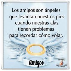 Los amigos son ángeles que levantan nuestros pies cuando nuestras alas tienen problemas para recordar cómo volar. Lindos mensajes de Amistad y compartir