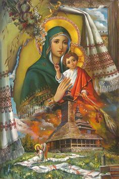 Mary Mother of God and Baby Jesus Jesus And Mary Pictures, Images Of Mary, Mary And Jesus, Blessed Mother Mary, Blessed Virgin Mary, Religious Icons, Religious Art, Hail Holy Queen, Christian Artwork