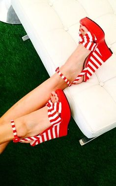 Red + white wedges!