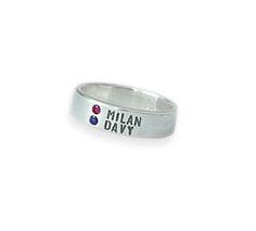Ring geboortesteen met 2 namen - Bella Luca Sieraden - Mooie sieraden voor de trotse mama!