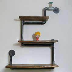 #pipefurniture  #loft  #industrial  #shelf #pipeshelf by steel_and_wood1