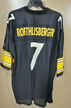 8004d0ae2 ... Pittsburgh Steelers Ben Roethlisberger 7 Reebok On Field Jersey Mens  2XL Reebok PittsburghSteelers ...