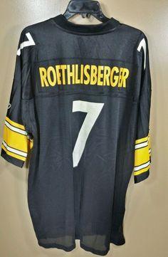 4f677feb5 ... Pittsburgh Steelers Ben Roethlisberger 7 Reebok On Field Jersey Mens  2XL Reebok PittsburghSteelers ...