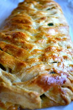 Broccoli & Chicken Braided Bread