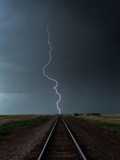 Railroad Lightning Bolt - Weather photography
