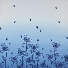Elisa Viotto Arte . Blu .  40 x 40 x 4 cm . oil on canavas . 2011