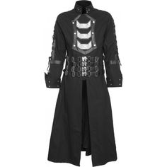A metal plated version of the popular Hellraiser coat by Raven SDL, one of the best-selling men's jackets we have in our gothic clothing shop.