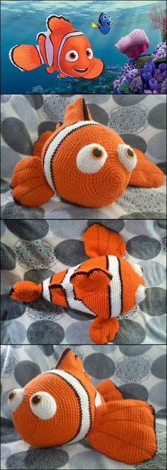 Free Nemo Crochet Pattern                                                                                                                                                     Más