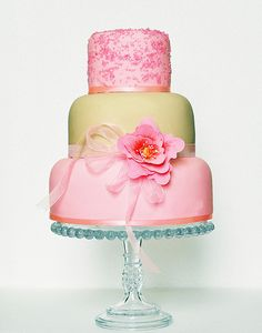 pink and green cake art ... so pretty