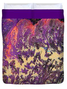 "#RisingEnergy #AbstractPainting #Queen (88"" x 88"") #DuvetCover"