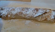 Delicious apple strudel made by cooking group.