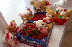 Rilakkuma attends a strawberry festival.