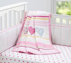 Heart Nursery Bedding #pbkids