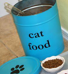 DIY cat food tin