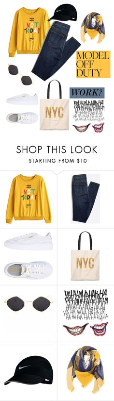 """""""Work? Model Off-Duty"""" by mdfletch ❤ liked on Polyvore featuring Puma, NIKE and modeloffduty"""