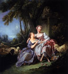 François Boucher, French, 1703 - 1770 - The Love Letter - 1750 - National Galery of Art, Washington, Timken Collection, oil on canvas 81,2x74,2cm.