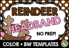Kids will love making and wearing this reindeer headband for Christmas or to accompany other deer activities! This resource contains a cute reindeer headband template, both in color and bw. Children can look at the colored template to color their own headband.  All instructions are included in the download. A simple and fun crafts for Christmas!
