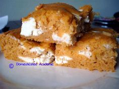 5 Ingredient Pumpkin Bars | Domesticated Academic