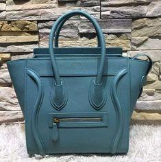 Celine Micro Paon Grained Calfskin Luggage Bag