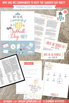 Why are we commanded to keep the Sabbath Day holy?  This printable package has SEVEN awesome learning activities!  They are so impactful!  #septembercomefollowme
