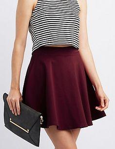 Ponte Knit Skater Skirt #CharlotteLook