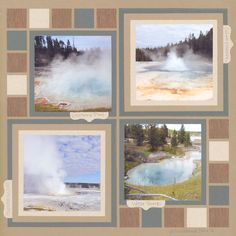 So many earth tones here! It works to well with the natural Yellowstone setting. I want to learn how to make a scrapbook layout like this!