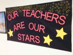 "Our Teachers are Stars"" Themed Teacher Appreciation Week (faculty . Teacher Appreciation Luncheon, Volunteer Appreciation, Teacher Application, Teacher Morale, Teachers Week, Teacher Doors, School Leadership, Teachers' Day, School Themes"