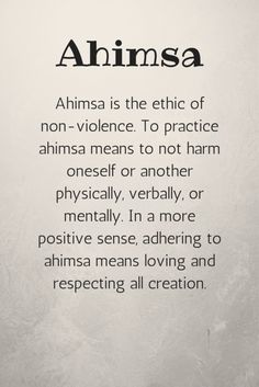 5 Yamas Will Change Your Life As a teacher, ahimsa means being aware of your students' physical limitations. Be gentle and mindful when giving hands-on assists. Help students push themselves, but not to the point of injury.Giving Giving may refer to: Yoga Mantras, Yoga Quotes, Bikram Yoga, My Yoga, Yoga Flow, Pranayama, Eminem, Namaste, Chakras Reiki
