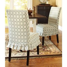 LOVE These Dining Room Chair Slipcovers From Pier I Adorable