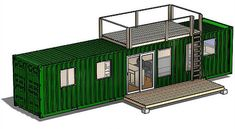 The Rustic Retreat XL is made out of one 40 foot container and is perfect for a spacious hunting/camping cabin.