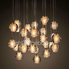 Modern/Contemporary Crystal Pendant Light Ambient Light For Living Room Dining Room Outdoor Kids Room Entry Warm White 90-240V Bulb 2018 - $41.79