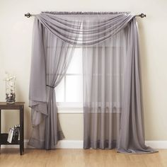 Luxury Voile Sheer Panel ($16) ❤ liked on Polyvore featuring home, home decor, window treatments, curtains, window panels, window shades, window curtains and sheer window shades
