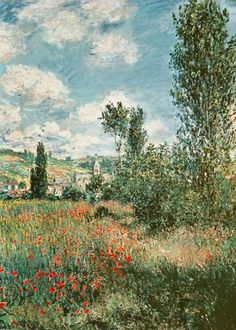 Claude Monet - Chemin à travers les coquelicots