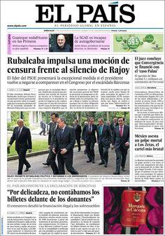 Los Titulares y Portadas de Noticias Destacadas Españolas del 17 de Julio de 2013 del Diario El País ¿Que le pareció esta Portada de este Diario Español?