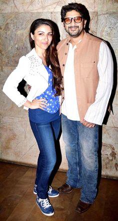 Arshad Warsi with Soha Ali Khan at the screening of 'Mr Joe B. Carvalho' #Fashion #Style #Bollywood #Beauty