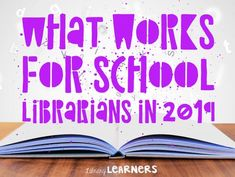 What works for school librarians in 2019 - Library Learners - - We asked school librarians what worked best for them last school year. Read their reponses, with ideas you can use in your school library! School Library Lessons, School Library Displays, Library Lesson Plans, Middle School Libraries, Elementary School Library, Library Skills, Elementary Schools, School Library Decor, School School