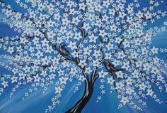 big large huge blue painting of tree of life with by SheerJoy, $349.95