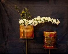 Ikebana Sogetsu (realizzato da Luca Ramacciotti)  Ceramica di Susy Pugliese