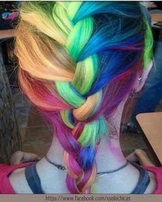 colorfull hair.